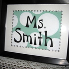 Teacher Classroom Custom Name Framed Sign