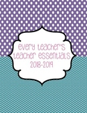 Teacher Essentials: Planner, Organizer, Gradebook