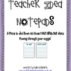Teacher Idea Notepads