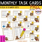 """Teacher, I'm Done!"" Task Cards for Fall"
