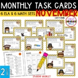 """Teacher, I'm Done!"" Task Cards for November"