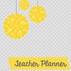Teacher Lesson Planner (Grey) Editable with Common Core