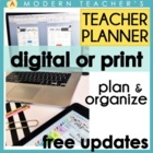 Teacher &amp; Lesson Planner Editable with Common Core SS {Che