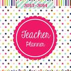 Teacher &amp; Lesson Planner Editable with Common Core SS {Happy Day}