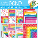 Teacher Maker Set 02 - Brights - Paper and Frames for Teachers