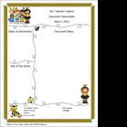 Teacher Newsletter Template - Bumble Bee Theme