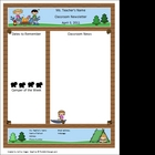 Teacher Newsletter Template - Camping Theme