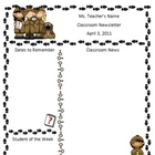 Teacher Newsletter Template - Detective Theme