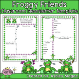 Teacher Newsletter Template - Frog Themed