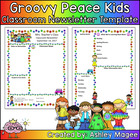 Teacher Newsletter Template - Groovy Peace Theme