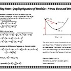 Teacher Notes-Graphing Equations of Parabolas-Vertex Focus