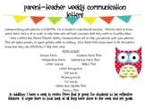Teacher- Parent Weekly Communication Bundle