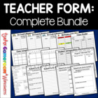 Teacher Planner - All Sheets