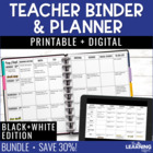 Teacher Planner - Black &amp; White