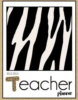 Teacher Planner - Jungle Theme