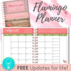 Editable Teacher Planner & Organizer - Flamingo Theme {201