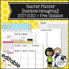 Teacher Planner - Rainbow Hexagonal