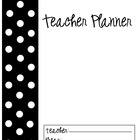 Teacher Planner/Calendar (Black and White Dots)