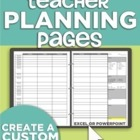 Teacher Planning Pages and Binder Tips