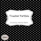 Teacher Portfolio: Polka Dot Themed Binder Inserts