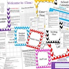 Teacher Resource Binder for Substitute Teachers with Examp