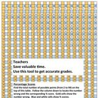 Teacher Supplies  -  Grading Tool for Percentage Scores