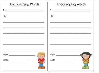 Teacher Timesaver - Encouraging Words - Creating a Caring