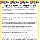 Teacher Tips for New (and not so new) Teachers