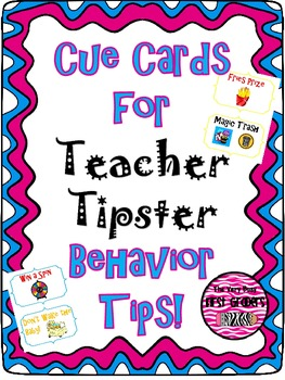 Teacher Tipster Classroom Management Idea Cue Cards