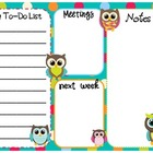 Teacher To-do List (Dots & Owls)