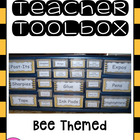 Teacher Toolbox (Bee Themed)