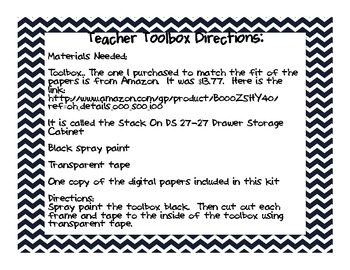 Teacher Toolbox Kit- Chevron and Polka dot theme