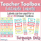 Teacher Toolbox Kit - Turquoise Dot Theme