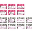 Teacher Toolbox Labels - ZEBRA THEMED