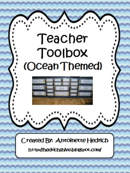 Teacher Toolbox (Ocean Themed) - EDITABLE