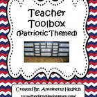 Teacher Toolbox (Patriotic Themed) - EDITABLE