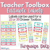 Teacher Toolbox - Turquoise Dots (Editable)