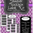 Teacher Toolkit - Purple Chalkboard (Editable)