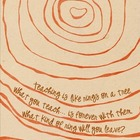 Teacher Tree Rings Poster