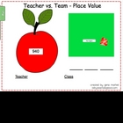 Teacher Vs. Team (3 digit numbers) - For SMART Board