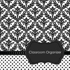 Teacher's Classroom Organizer {Black and White Damask}