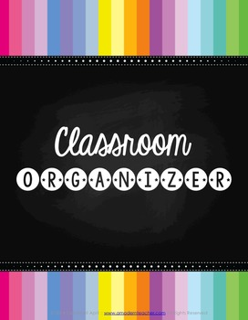 Teacher's Classroom Organizer {Chalk It Up!}