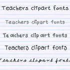 Teachers Clipart Fonts {NO-CREDIT needed} for personal and