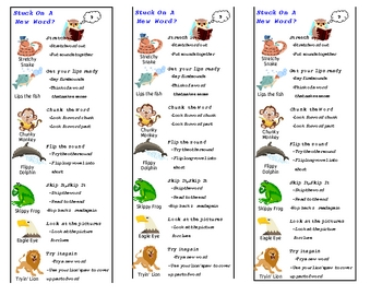 Teacher's Creatures Decoding Strategies Bookmarks