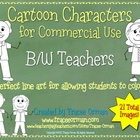 Teachers Line Art B/W Cartoon Clip Art for Commercial Use