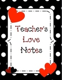 Teacher's Love Notes binder cover