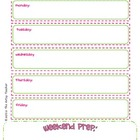 Teacher's Prep Planner