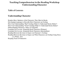 Teaching Comprehension in Reading Workshop -- Understandin