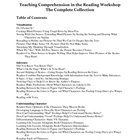 Teaching Comprehension in the Reading Workshop -- Complete