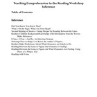 Teaching Comprehension in the Reading Workshop -- Inference
